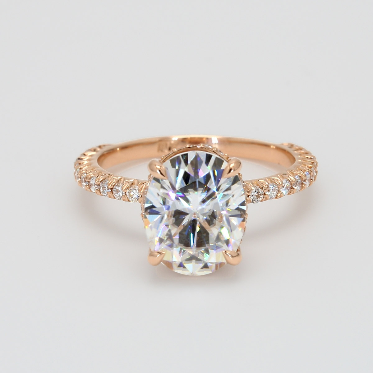 Custom Oval Shape Engagement Ring