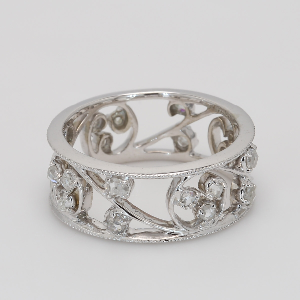 Custom Ladies Diamond Eternity Band in White Gold