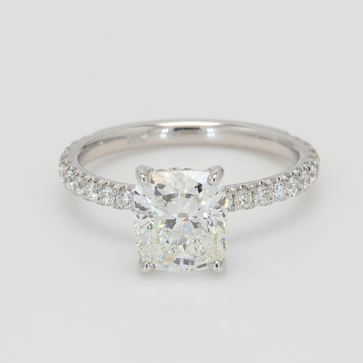 1.82 Carat Cushion Cut Diamond Oliva Collection Engagement Ring