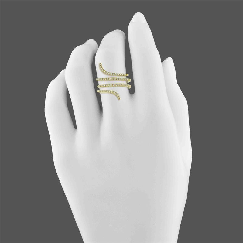 LA Hip, Ladies' Diamond Fashion Ring 0.52tw  14K Yellow Gold