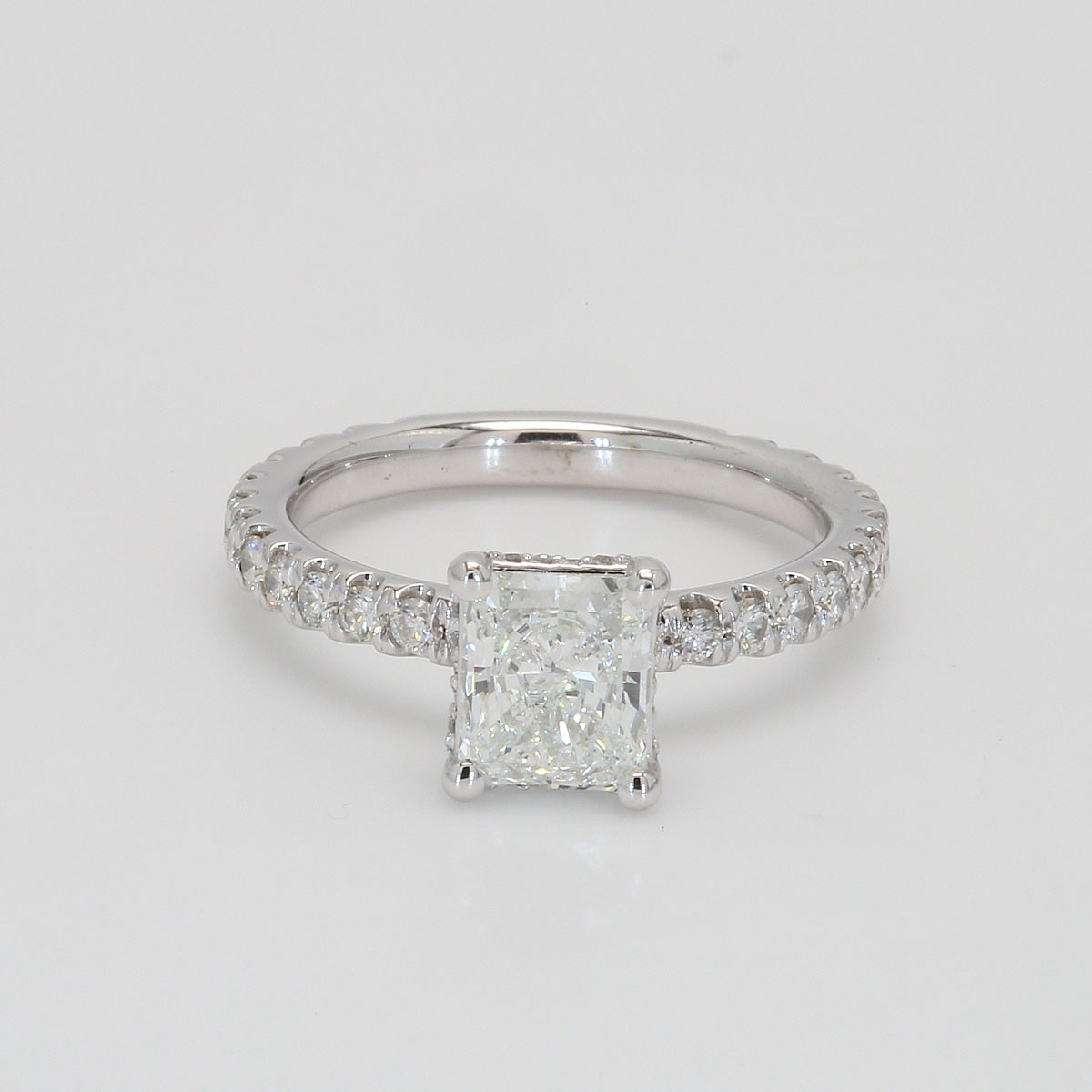 1.47 Princess Cut Diamond Engagement Ring