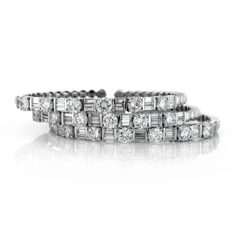 White Gold Diamond Stackable Bracelets
