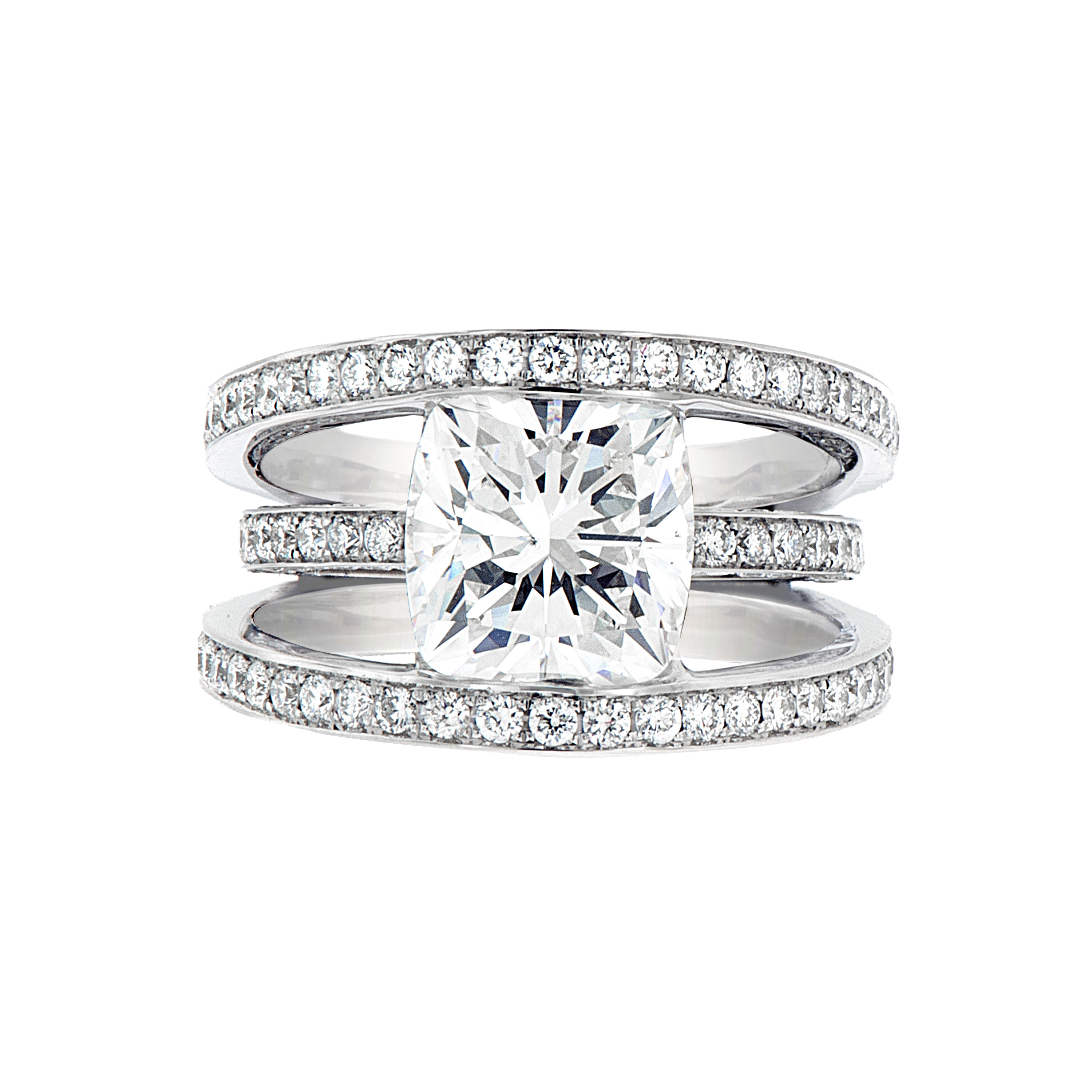 Cushion Brilliant Diamond Ring