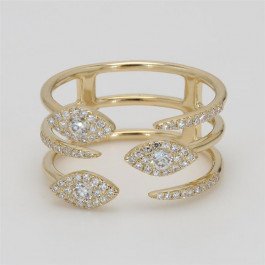 Ladies' Diamond Fashion Ring 0.42tw  14K Yellow Gold