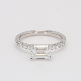1.00 CT GIA Emerald Cut Diamond Engagement Ring