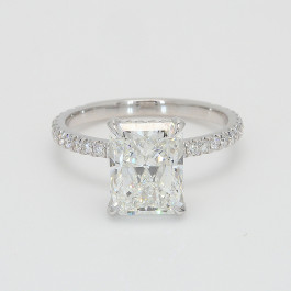 Engagement Ring  18K White Gold  3.01 Radiant