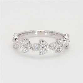 Ladies' Diamond Half-Way Band 0.73tw  18K White Gold