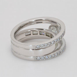 Ladies Custom Diamond Fashion Ring in White Gold