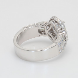 1.06Ct Pear Shaped Diamond Halo Engagement Ring