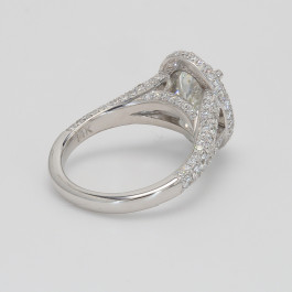 2.12Ct Oval 14K White Gold Engagement Ring