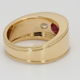 CUSTOM GENT'S RING 1.89CT OVAL RUBY
