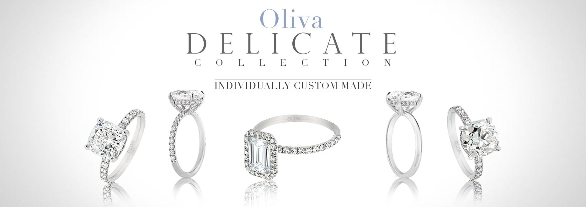 group of halo and pave diamond engagement rings