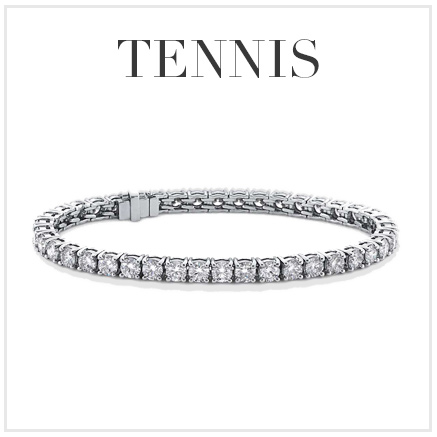 diamond tennis bracelet with shadow